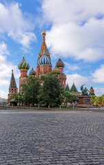 St.Basils Cathedral on the Red Square in Moscow