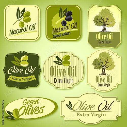 olive oil labels - 71137936