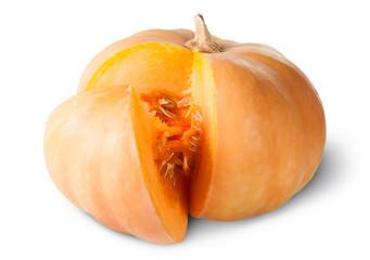 Sliced Pumpkin With Seeds Rotated
