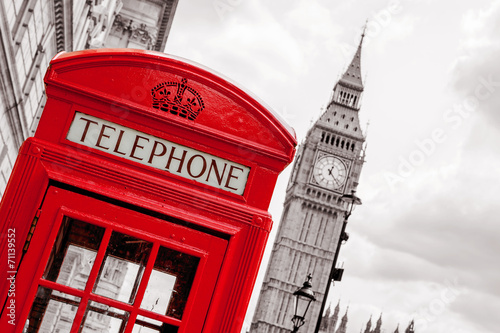 Tuinposter Centraal Europa Phone booth. London, UK