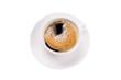 canvas print picture - Kaffee schwarz mit Schaum