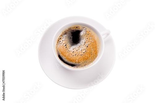 canvas print picture Kaffee schwarz mit Schaum