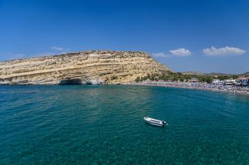 Matala beach, Crete island