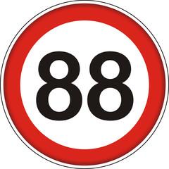 Verkehrsschild, 88