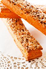 bread sticks with sesame