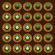 Game steampunk web rating stars set