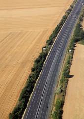 highway in farmland