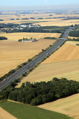 highway in french farmland