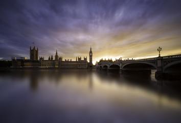 Sunset over Westminster Bridge, London