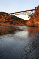 Deception Pass Bridge Sunset