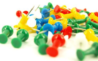 coloured thumbtacks