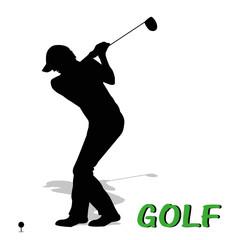 silhouette di giocatore di golf