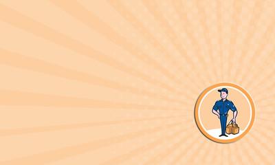 Business card Paramedic Holding Bag Circle Cartoon