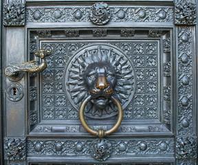 Cologne Cathedral door knocker  lion