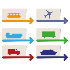 transportation pointers vector