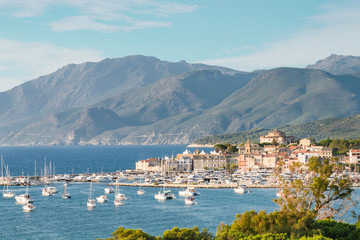 Panorama of Saint-Florent, Corsica, France