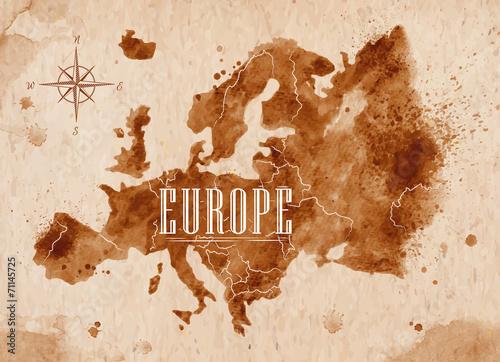 Map Europe retro - 71145725