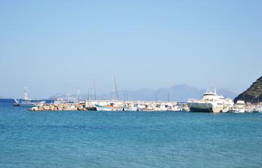 View of port in Kefalos