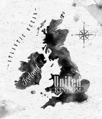 Ink United kingdom and Scotland map © anna42f