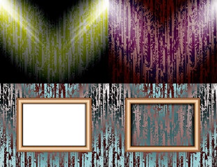 Set of colorful abstract backgrounds and frames for text or
