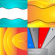 Set of bright abstract backgrounds. Design eps 10. Vector