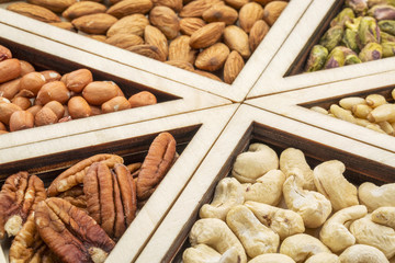 variety of nuts abstract