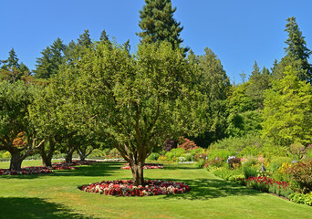Butchart Gardens has beautiful lawns and landscaping