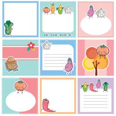 vegetables layout design