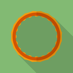 Sport hula hoop icon. Modern Flat style with a long shadow