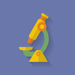 Microscope icon. Flat style