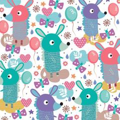 donkey whimsical illustration