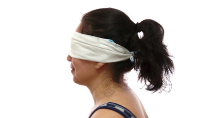 Blindfolded Woman Twirling Around