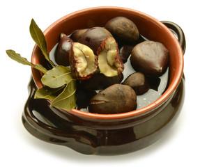 Boiled chestnuts Castañas hervidas Castagne bollite expo 2015