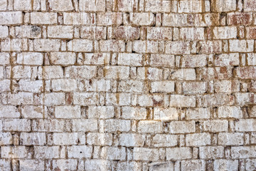 Weathered old bricks wall