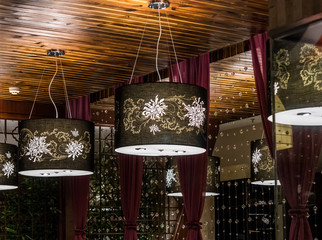 Hanging electrical lamps for interior design