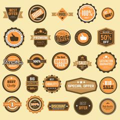 Retro Sale Badges