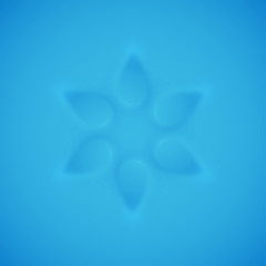 Relief texture 3d modelling clay flower