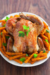 Roasted chicken and spicy pumpkin