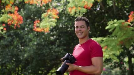 5of6 Portrait of happy man, amateur photographer smiling