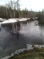 Речка скованная льдом