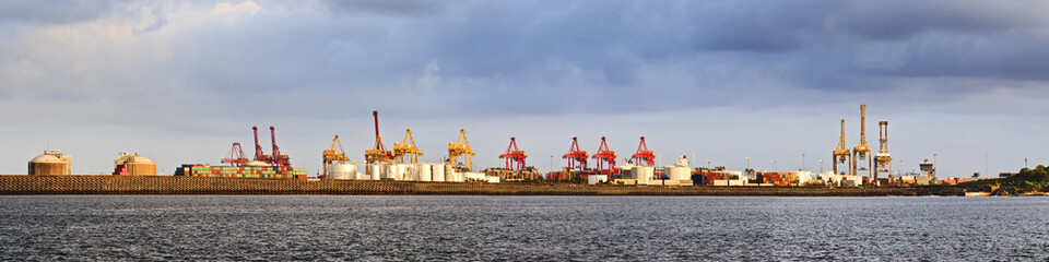 Port Botany Cargo Distant Panorama