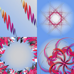 Set of Abstract modern wave colorful background. Vector