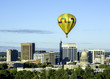 Idaho state capital with a yellow hot air balloon