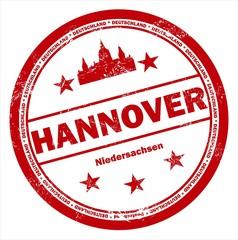 Hannover Niedersachsen Stempel rot Stamp