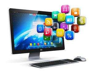 Computer applications and internet concept