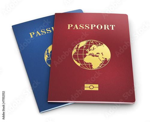 canvas print picture Biometric passports