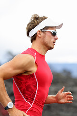 Running triathlon athlete