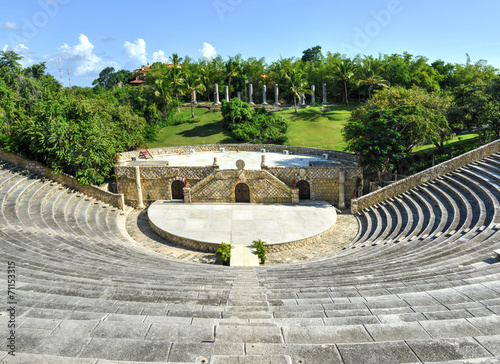 Fotobehang Centraal-Amerika Landen Amphitheater, Altos de Chavon, La Romana, Dominican Republic