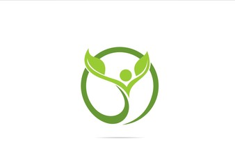 Sucses Healty Medicine icon logo symbol klinik Green herbal