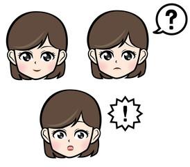 女性の表情集